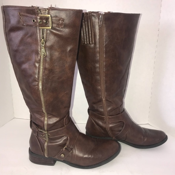 Guess Shoes G By Brown Wide Calf Riding Boots Poshmark